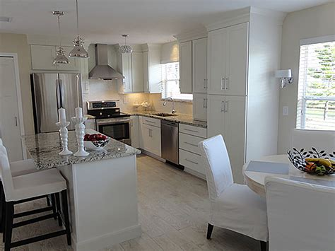 shaker white painted cabinets