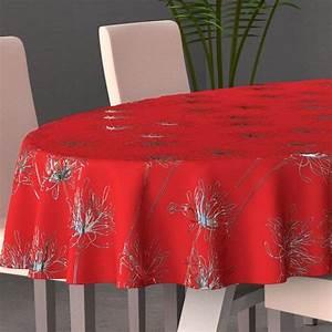 Nappe Table Ovale : nappe ovale l230 cm emma rouge nappe de table eminza ~ Teatrodelosmanantiales.com Idées de Décoration