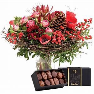 Bouquet De Fleurs Interflora : bouquet de saison aux couleurs traditionnelles de no l et son crin de chocolats fleurs de ~ Melissatoandfro.com Idées de Décoration