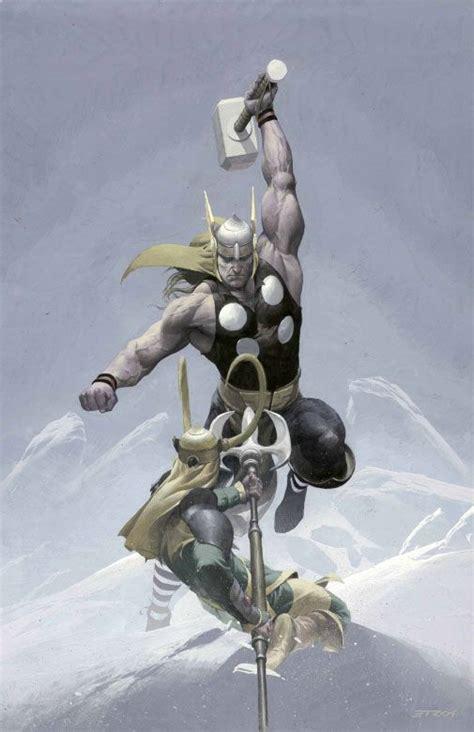 Thor Vs Loki By Esad Ribic Artist Esad Ribic