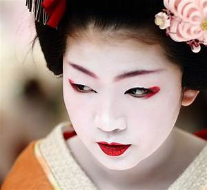 Geisha makeup tutorial and pictures Yve Style