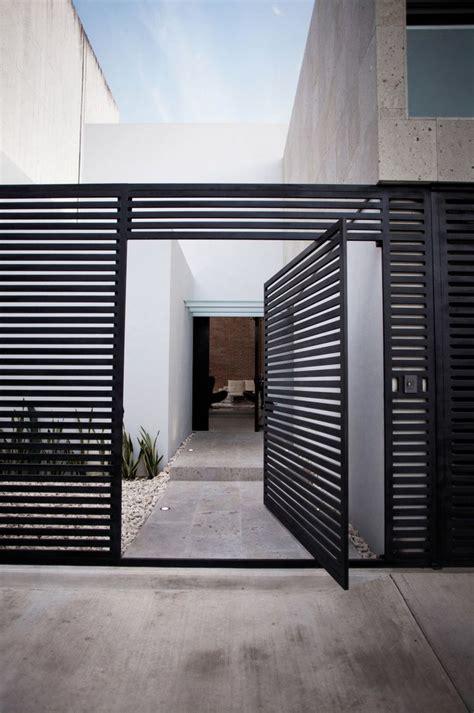 gate with door modern steel fencing steel partners