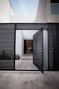 fence gate design Modern Steel Fencing - Steel Partners