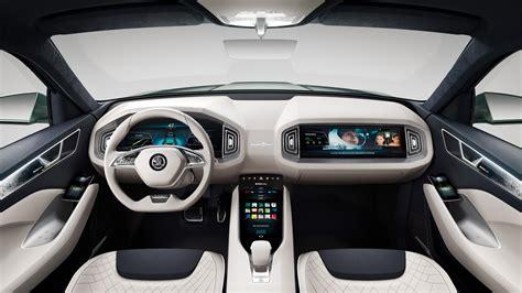 wallpaper skoda vision  geneva auto show  interior