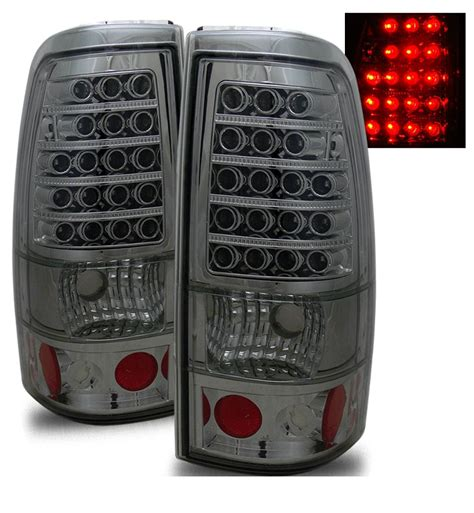 02 silverado tail lights 99 02 chevy silverado sierra euro led tail lights smoked