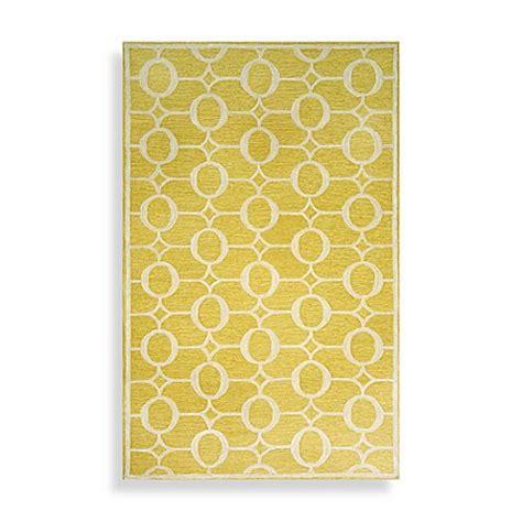 yellow bathroom rugs spello arabesque area rug in yellow bed bath beyond 1207