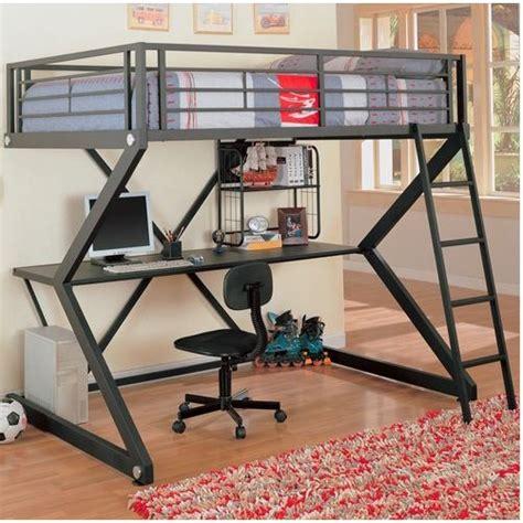 loft bed with desk full size mattress full size metal bunk style loft bed with desk affordable