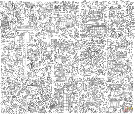 giant poster paris coloring book  coloring pages