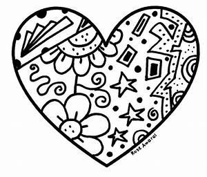 Coração para Colorir e Imprimir Muito Fácil Colorir e Pintar
