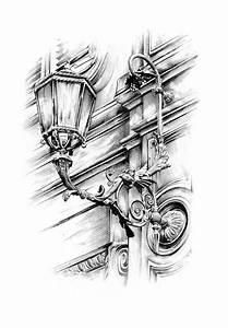 Dessin Fait Main : dessin de lanterne de rue antique fait main illustration ~ Dallasstarsshop.com Idées de Décoration