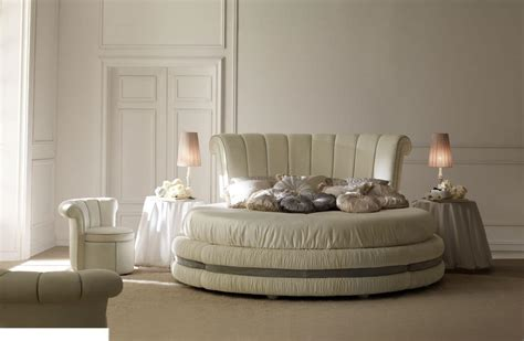 luxury  bed upholstered  leather  fabric