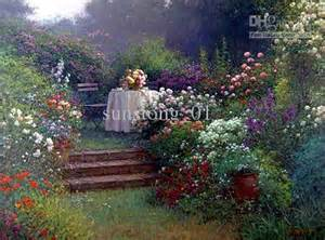 Garden Flower Landscape Oil Painting