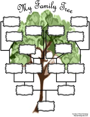 family tree forms  charts fill  printable
