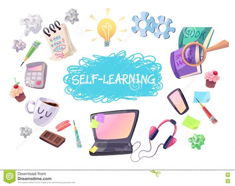Light Bulb Etc by Self Learning Concept Illustration Stock Vector Image