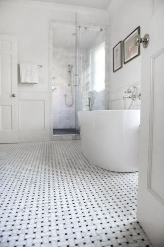 beautiful basketweave tile tub bathrooms