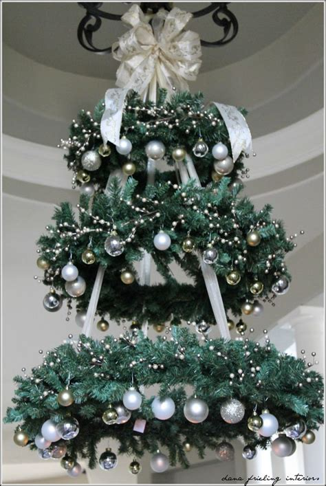 hanging christmas tree wreath chandelier this would be