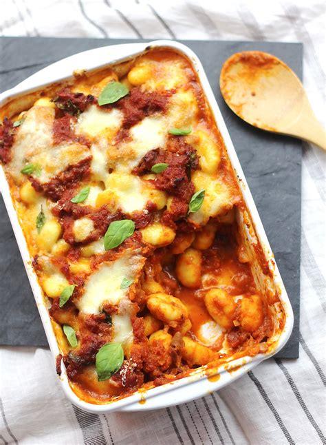 cuisine saine gratin de gnocchi sauce tomate recette facile 4 é 30 min régal