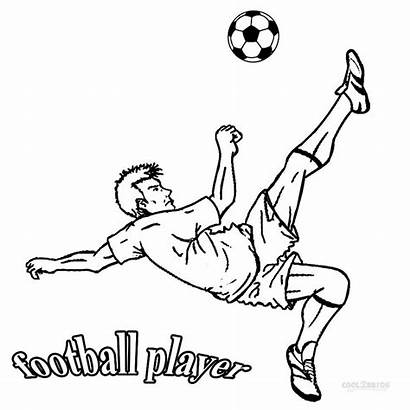 Football Coloring Pages Player Printable Players Sheets