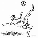 Coloring Football Player Printable Sheets Cool2bkids sketch template