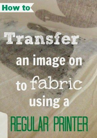 easy tutorial  transferring  image  fabric