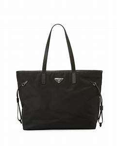 Prada Online Shop : prada vela side cinch shopping tote bag black nero neiman marcus ~ Orissabook.com Haus und Dekorationen