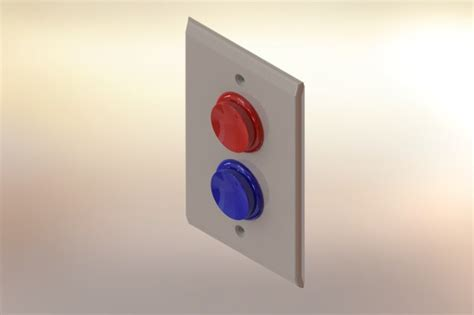arcade button light switch arcade style button light switch plate stl other 3d