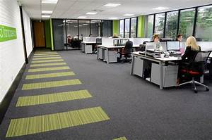 Pab studio offices create distinctive designs with for Carpet flooring in office