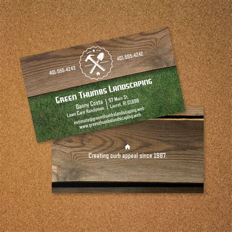 vistaprint business card layout landscaping business card vistaprint business card