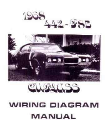 1968 Oldsmobile Cutlas Wiring Diagram by 1968 Oldsmobile 442 Cutlass F 85 Wiring Diagrams