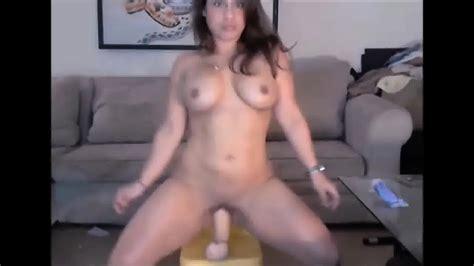 Big Ass Brunette Rides Thick Dildo On Webcam Eporner