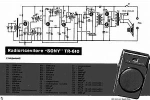 Sony Tr610 Transistor Pocket Radio Sch Service Manual
