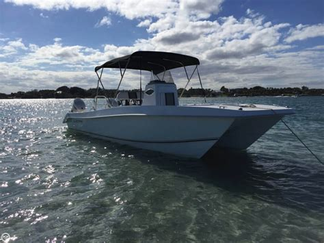 Twin Vee Boats For Sale by 2016 Used Twin Vee Ocean Cat 26 Power Catamaran Boat For