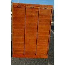 classeur 224 rideaux en bois grand classeur