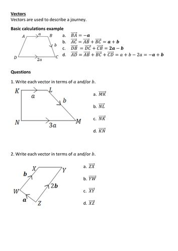 Vectors revision by Frazzled22 | Teaching Resources
