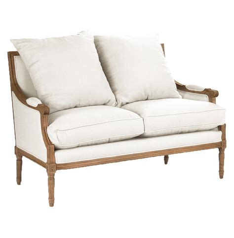 Louis Settee by St Germain Country Oak Louis Xvi White Settee