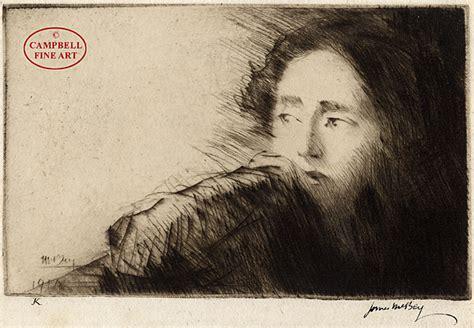 Disquietude (portrait Of Mrs Martin Hardie) By James Mcbey