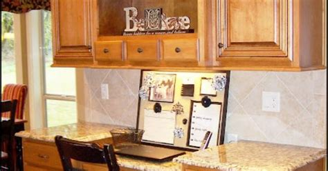 how to install cabinets in kitchen oh i ve always wanted a desk area in the kitchen some 8685