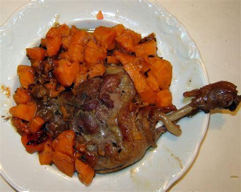 cuisine cuisse de canard cuisses de canard aux épices et potimarron à la mijoteuse