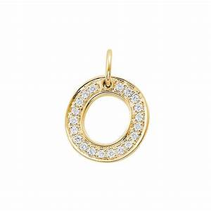 diamond letter o charm pendant With diamond letter charm