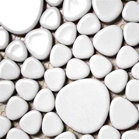pebble tile white porcelain tile backsplash pebble mosaic ceramic tile aty1103