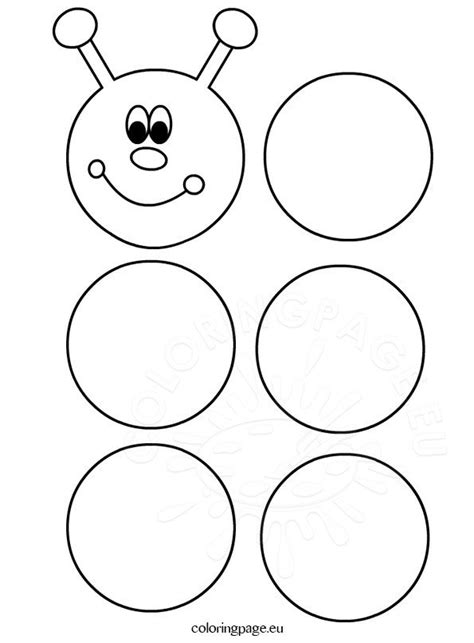 printable caterpillar template coloring page
