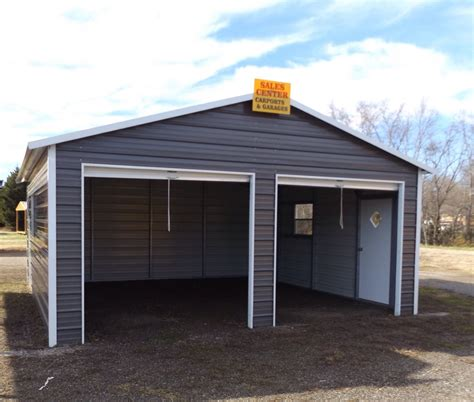 Steel 2 Car Garage Carport Workshop 24x31x9 Metal Building