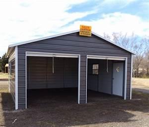 Carport Vor Garage : steel 2 car garage carport workshop 24x31x9 metal building ~ Lizthompson.info Haus und Dekorationen