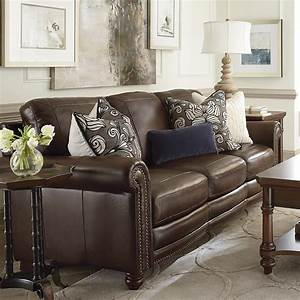 Hamilton sofa leather living room bassett furniture for Sectional sofa bed hamilton