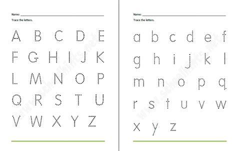 Traceable Alphabet Templates by Free Traceable Alphabet Worksheets Preschool Printable