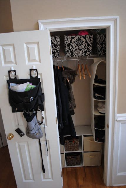 Entry Closet Organization Ideas by An Inexpensive Way To Create An Organized Small Entry