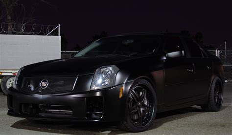 cadillac cts breden forged  staggered  matte black wheels breden