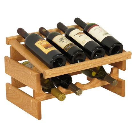wood wine racks wood wine rack 8 bottle display in wine racks