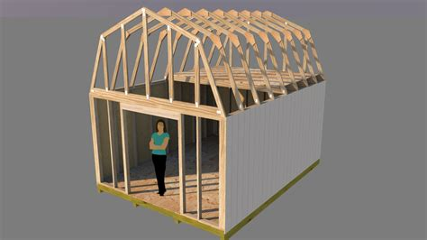 12x16 gambrel storage shed plans free barn shed plans to build a shed easily ward log homes