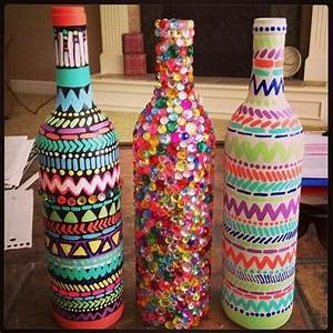 60 DIY Glass Bottle Craft Ideas for a Stylish Home - Pink
